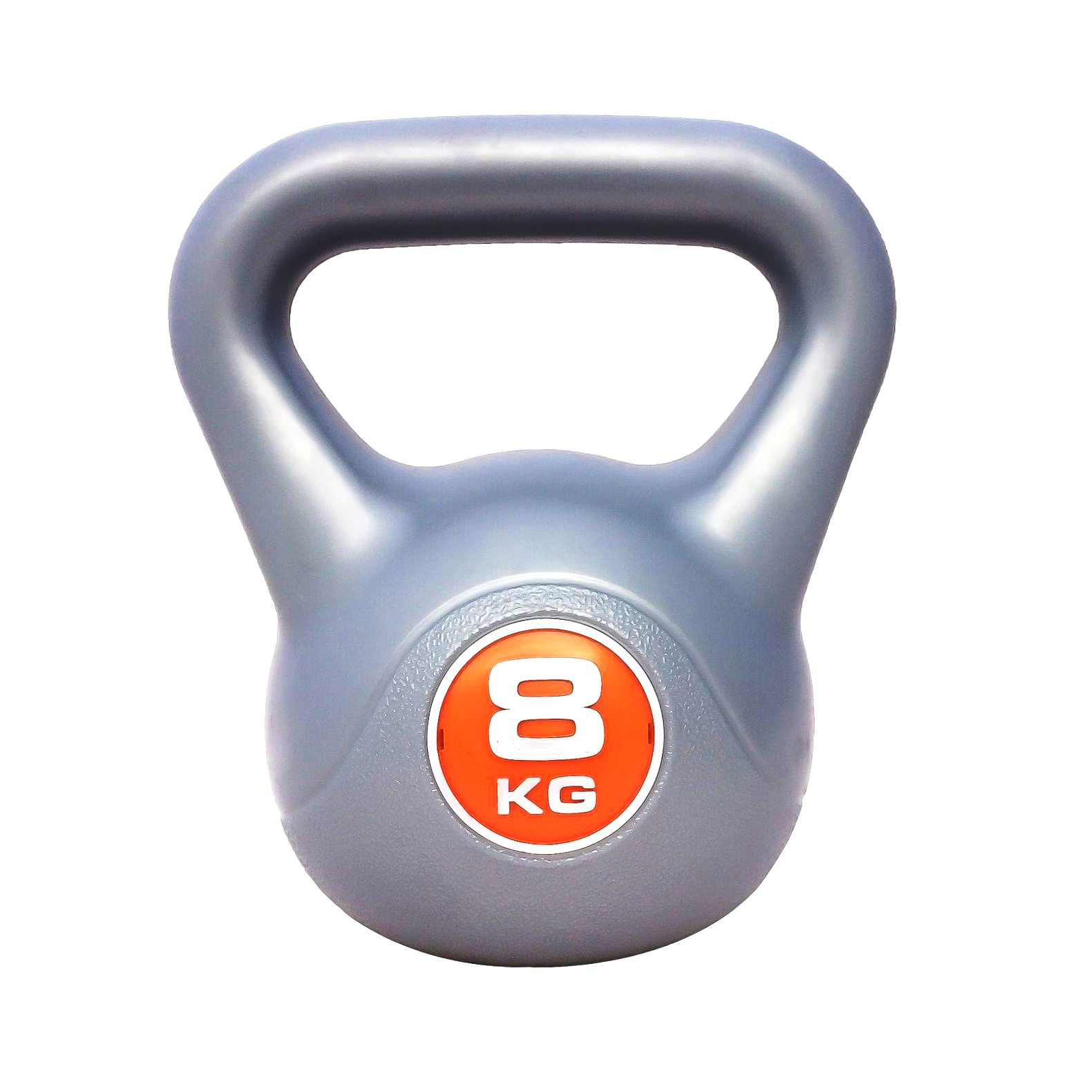 Pair Of 6Kg Black Vinyl Plastic Kettlebells Kettlebell  Home Gym Workout Fitness